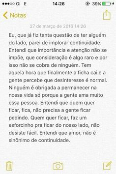 Lindíssimo falou tudo Words Quotes, Love Quotes, Sayings, Sad Love, Love You, Truth Of Life, Motivational Phrases, Real Friends, Sentences