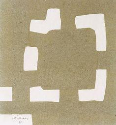 Eduardo Chillida, Collage beige