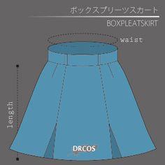 スカートの型紙イラスト一覧 洋服やコスプレ衣装のパターン でぃあこす Box Pleat Skirt, Box Pleats, Pleated Skirt, Japanese Sewing Patterns, Pattern Design, Chinese, Illustration, Skirts, Pleated Skirt Outfit