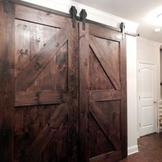 Create Beautiful Space Using Barn Doors Interior: Home Decor Ideas With Barn  Doors Interior And Cheap Barn Door Hardware Also Crown Molding With Ceiling  ...