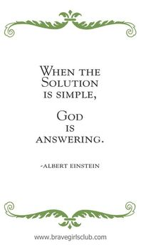 """Albert Einstein — """"When the Solution is Simple..."""" 