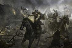 Os vikings eram guerreiros que viajavam pelos mares a partir de sua terra, na península escandinava, pilhando e saqueando cidades, mas também estabelecendo colônias e comercializando.