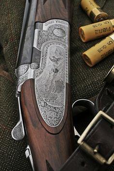 Beretta Shotgun & Musto Shooting Coat with RC Cartridges   by Threedi