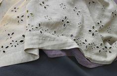 Dreaming of Society Limonta eyelet linen sheets.