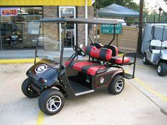 Gotta get a Georgia Bulldogs golf cart. Especially since we will be living next to Bama fans!!