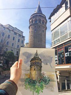 #drawing #sketchbook #istanbul #building #historical #watercolor