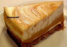 llimaverda: Pastel de queso y dulce de leche