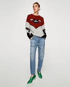 Afbeelding 1 van OVERSIZED TRUI IN COWBOY-LOOK van Zara