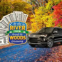 At the River Then Through the Woods Giveaway - November 25, 2017 10am-9pm - This holiday season, you could head to grandma's with a share of $45,000 in prizes or a brand-new ride! #LRCR