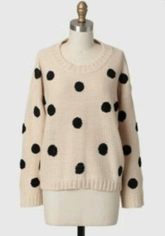 Bella polka dot taupe sweater