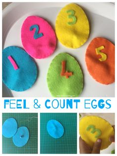 Feel & Count Felt Eggs - great counting activity for Easter!