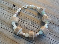 Deer Antler Bracelet. Amazonite and Sterling by TineDesignsByMindi Custom Jewelry, Handmade Jewelry, Antler Jewelry, Deer Antlers, Jewelry Design, Beaded Bracelets, Sterling Silver, My Style, Personalised Jewellery