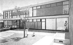 unavidamoderna:  Casa en Lomas, Lomas de Chapultepec, México DF 1953 Arq. Pedro Ramírez Vázquez House in Lomas de Chapultepec, Mexico City 1953