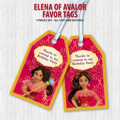Hey, I found this really awesome Etsy listing at https://www.etsy.com/listing/476563743/elena-of-avalor-favor-tags