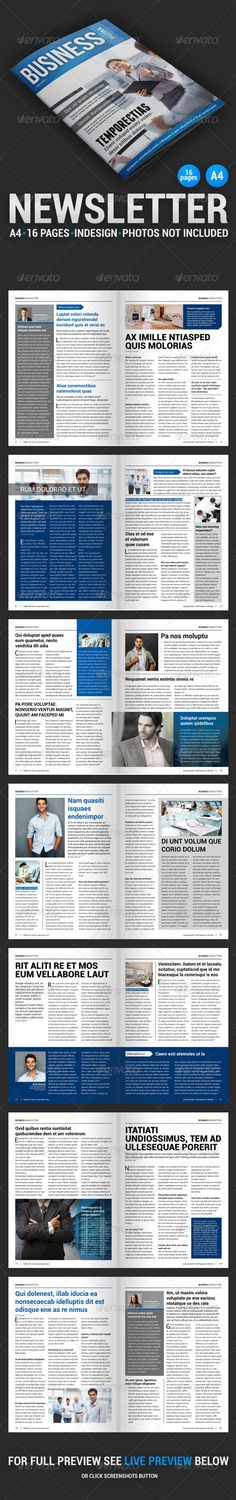 Business Newsletter 1 - Newsletters Print Templates Download here : http://graphicriver.net/item/business-newsletter-1/4348184?s_rank=345&ref=Al-fatih