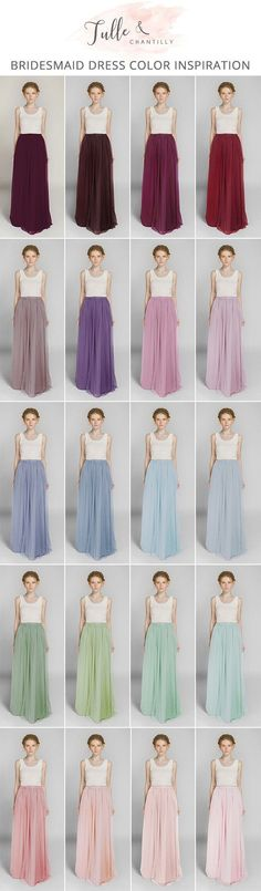 Long Tulle Bridesmaid Dress Skirt for Wedding Party TBQP346