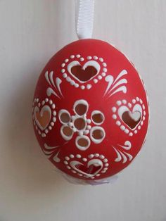 Central And Eastern Europe, Egg Decorating, Christmas Bulbs, Wax, Artisan, Traditional, Holiday Decor, Unique, Pattern