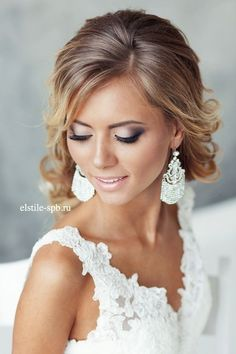 Wedding hair and makeup looks idea / http://www.deerpearlflowers.com/wedding-hair-and-wedding-makeup-ideas/