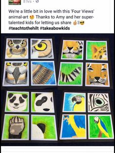 Fantastic Photo Animal Crafts middle school Thoughts Strong inside new world, th.Fantastic Photo Animal Crafts middle school Thoughts Strong inside new world, the roar drinks your trees. Can it be your lion, your wagering action Animal Art Projects, Animal Crafts, Middle School Art Projects, 8th Grade Art, Art Lessons Elementary, Kids Art Lessons, Visual Art Lessons, Ecole Art, Animales