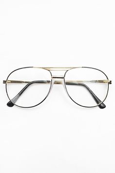Authentic Vintage 'Albert' Clear Aviator Glasses - Black #2222-2 - my father still wears some of these :)