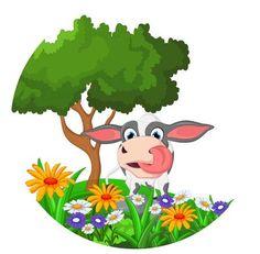 Illustration of cartoon cow vector art, clipart and stock vectors. Cow Clipart, Cow Vector, Vector Art, Cartoon Cow, Yogurt, Pikachu, Clip Art, Logo, Drawings