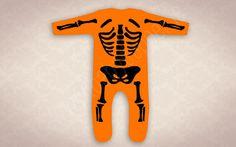Baby Skellington Skeleton Onesie in Spooktacular by BabyDapper