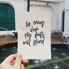 "#Repost @christiancreative #Repost @soughtandsow IN OCEANS DEEP MY FAITH WILL STAND | With a great story like that of Peter it is beautiful that the moment is captured in this song to relate to us today - a risk taking faith. A faith that is attacked and lacks trust from time to time. Take example from Peter and exercise our faith by crying out to the Lord when we are sinking into our vulnerabilities. When we entrust our footsteps to His enabling power then can we say with assurance: ""In ..."