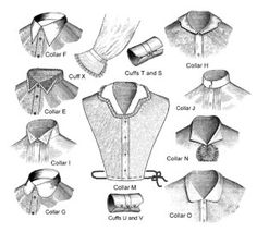 TV104  Late Victorian Collars and Cuffs Sewing by patternsoftime, $12.50