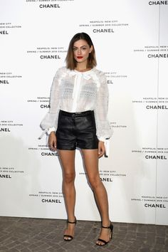 Phoebe Tonkin attends the launch of Lucia Pica's Chanel Spring-Summer 2018 Makeup Collection.