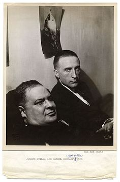 Joseph Stella and Marcel Duchamp, 1920. Photographed by Man Ray