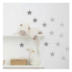 Silver stars wall stickers art decal - Got 2 Jot