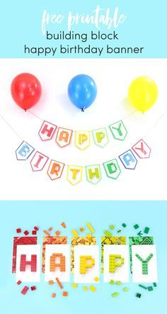 free printable happy birthday banner i used this and it turned out
