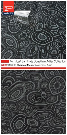 Introducing The Formica® Laminate Jonathan Adler Collection   9496 90  Charcoal Malachite In Gloss. Bar TopsFormica ...