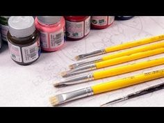YouTube Body Painting, Coloring Books, Projects To Try, Pencil, Crafts, Art Art, Youtube, Paint Brushes, How To Make Paint