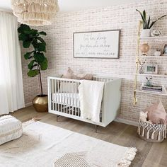 Shop baby nursery decor and be inspired by design ideas here at Project Nursery. Our baby gifts and gear include clothes, wallpaper, furniture, tech, and more. Baby Bedroom, Baby Room Decor, Nursery Room, Girl Nursery, Nursery Decor, Nursery Ideas Girls, Baby Girl Nurseries, Baby Girl Rooms, Budget Nursery