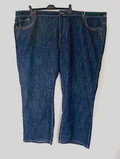 1cfc46d7dc1 Evans Jeans Plus Size 32 Mid Blue 5 Pocket Straight Long Leg 31