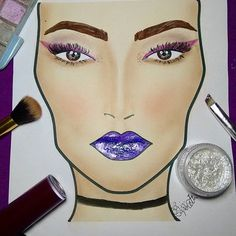 💜  #draw #drawing #croquimakeup #croqui #facechartmac #croquimac #makeup #make #maquiagem  #eyerliner #glow #fashion #love #purplemakeup #purple