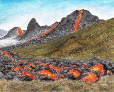 Minimax.cz - umělecký server pro všechny autory - FAGRADALSFJALL - ISLAND Volcanoes, Painters, Island, Statue, Mountains, Art, Art Background, Kunst, Volcano