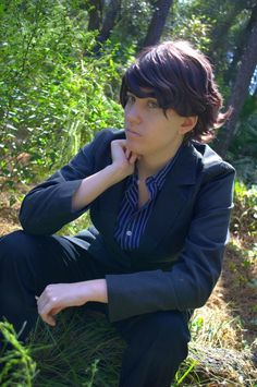 Just a little picture of just my Sherlock cosplay with out the overcoat.