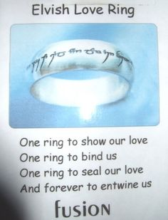 Elvish Love Ring!!!! OH MY GOODNESS!!!! ULTIMATE NERD RING!