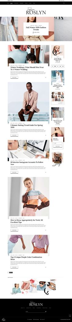 A Fashion and Lifestyle Website for Bloggers and Magazines. WordPress Theme. Online Fashion Shop. WooCommerce. Magazine Website Design Layout. WordPress Online Template Inspiration. General News, Fashion News, Women Health, Men Health, Style or Gossip News.