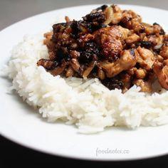Jednoduchý recept na masovou směs - čínuz kuřecího nebo krůtího masa Grains, Rice, Meat, Chicken, Food, Meal, Eten, Meals, Buffalo Chicken