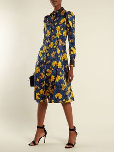 Click here to buy Altuzarra Filippa floral-print silk-jacquard shirtdress at MATCHESFASHION.COM