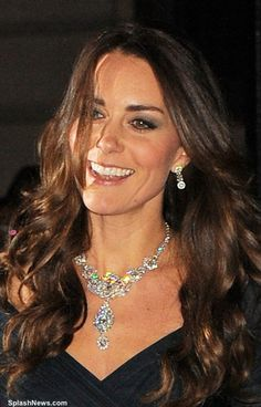whatkatewore:  Duchess of Cambridge in the Queen's Nizam of Hyderabad diamond necklace