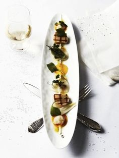 Coquilles met citrusricotta en beurre noisette