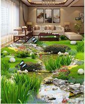 Garden Grass Water Fish 3d Wallpaper Fashionmodel Fashiondaily Fashionbags Fa 3dwall In 2020 Wohnzimmer Tv Tapete Wohnzimmer Zimmer Tapete