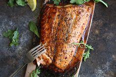 Cedar Plank Salmon with Brown Sugar & Black Pepper