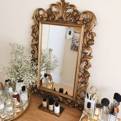 new interiors: the antique mirror