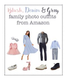 Spring family picture outfits, spring family photo outfits, blush and gray outfits, gray and pink ou Fall Family Picture Outfits, Spring Family Pictures, Family Pictures What To Wear, Family Picture Colors, Beach Picture Outfits, Winter Family Photos, Family Outfits, Family Pics, Spring Photos