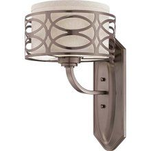 View the Nuvo Lighting 60/4721 Harlow Single Light Bathroom Fixture with Khaki Fabric Shade, in Hazel Bronze Finish at LightingDirect.com.